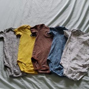 Five carter's onesies